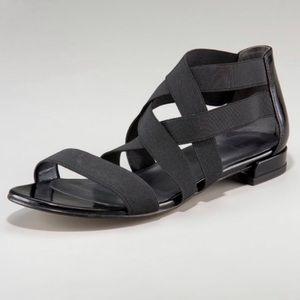 Stuart Weitzman Strappy Black Sandals Sz 7.5